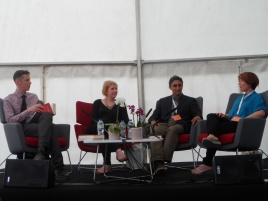 Speaking at Greenwich festival - Clare McKintosh of I LET YOU GO fame to my right