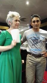With Denise Mina, brilliant crime author. Master and apprentice.