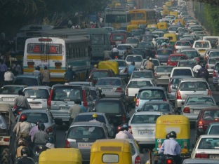 Traffic? What traffic? Just a normal day in Mumbai