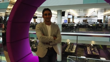 At BBC studios in Manchester for the launch