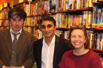 With Ian of Hodder and Alison at Wallingford bookstore