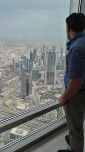 Vaseem at Burj Kalifa